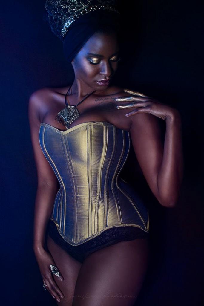 Gold Longline overbust corset