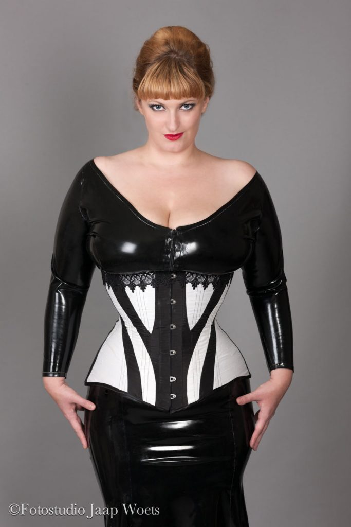 Edwardian corset with latex