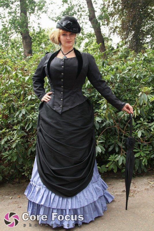 Victorian bustle gown — Skeletons in the Closet Couture and Corsetry
