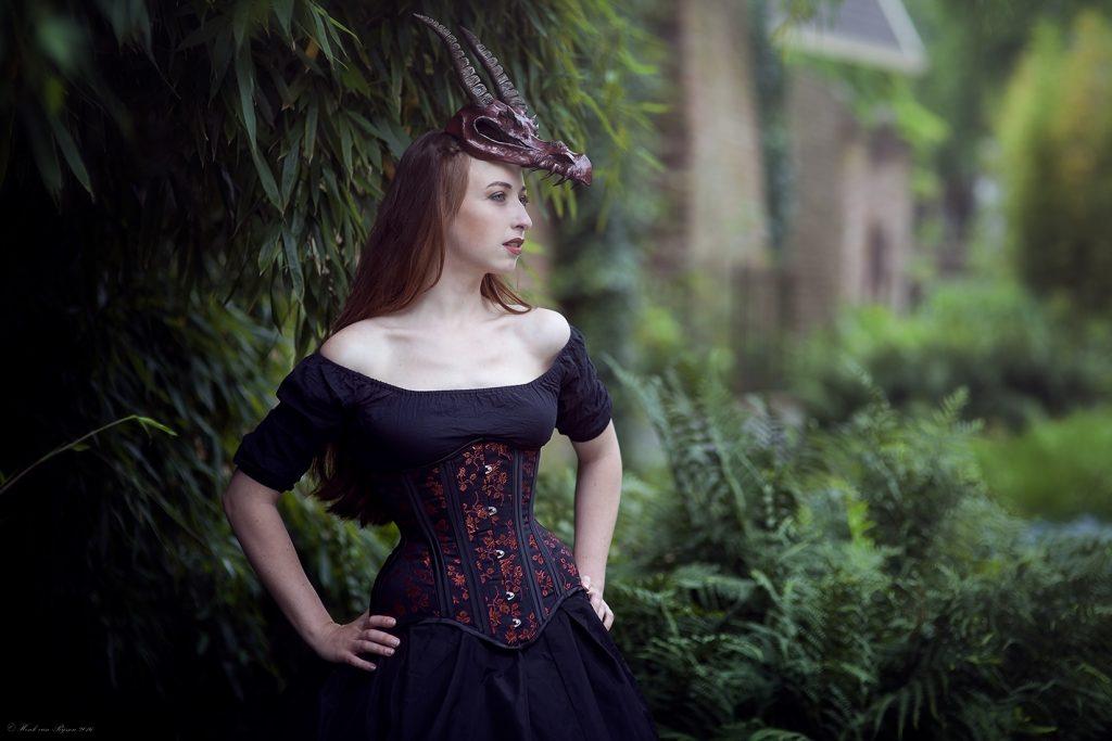 Heather Longline Corset, Model Eva Helena, Photographer Henk van Rijssen