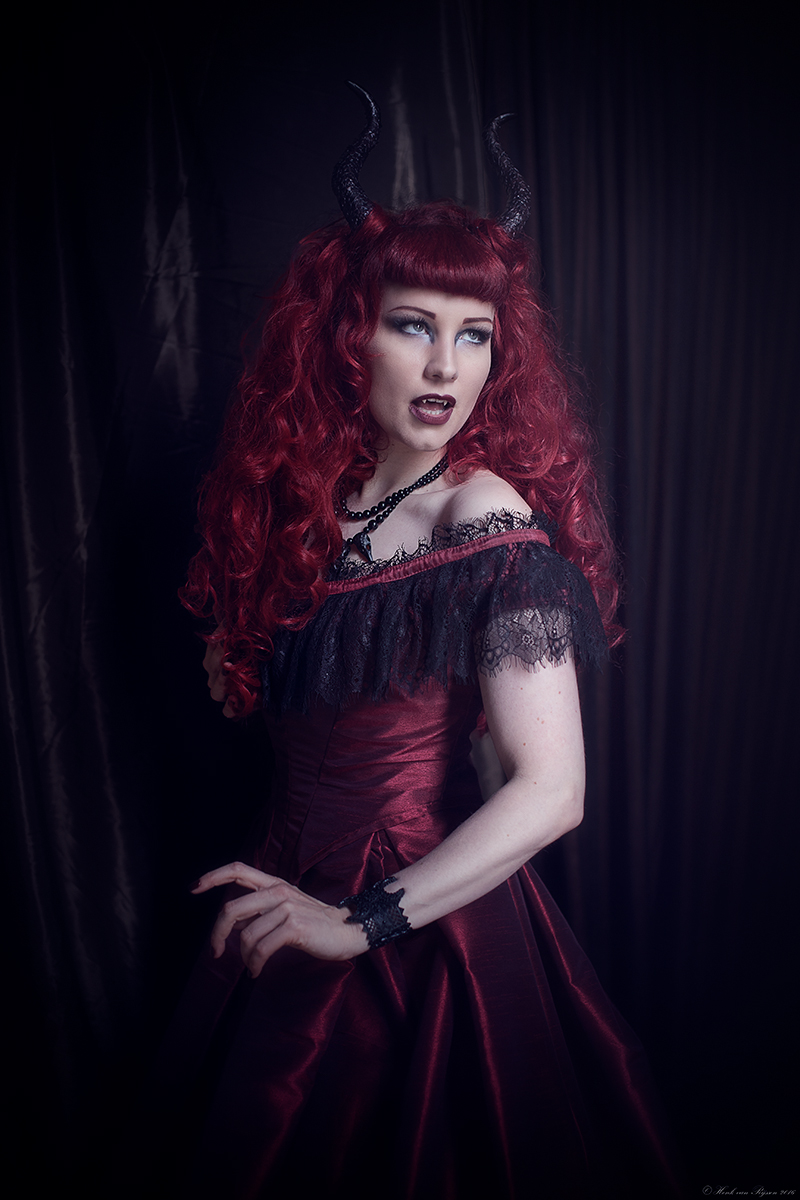 Bloodred Victorian Vampire Gown — Skeletons in the Closet Couture ...