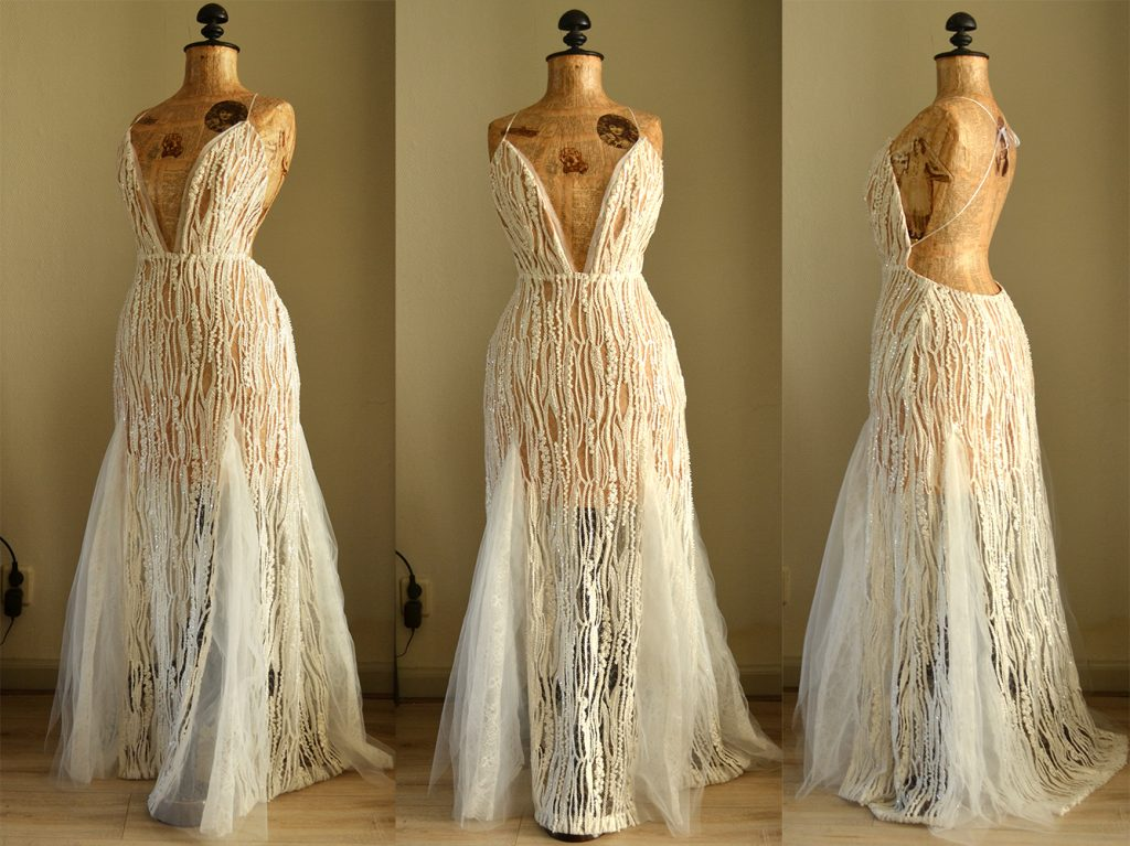 Fernanda nude wedding dress